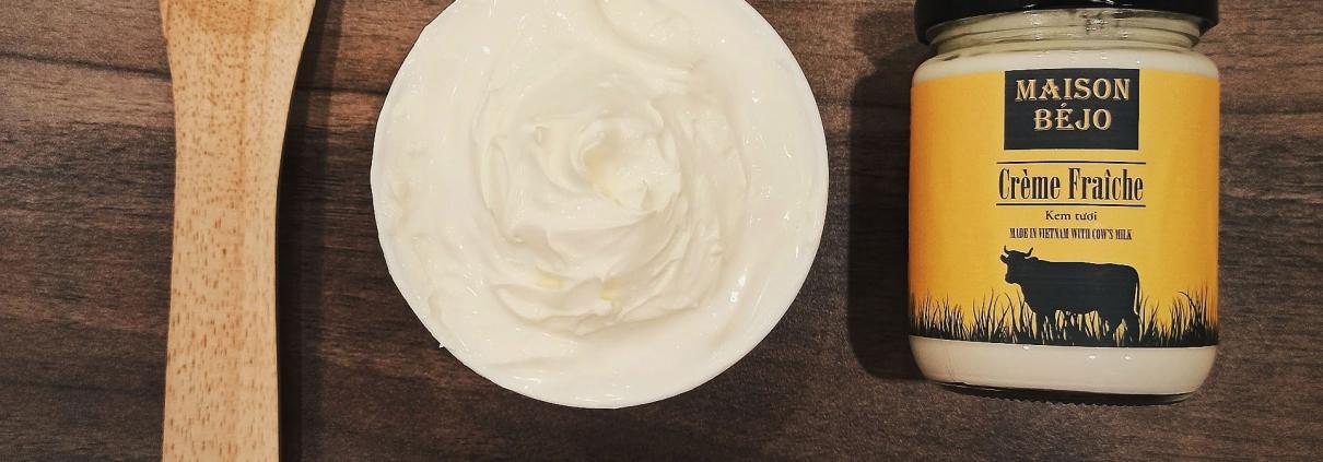 Crème fraîche made in Vietnam by Maison Béjo